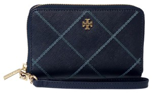 Tory Burch TORY BURCH Robinson Stitched Zip Continental Wallet