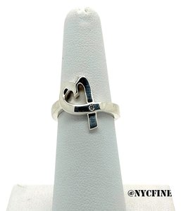 Tiffany & Co. Tiffany & Co. Paloma Picasso Sterling Silver Loving Heart Diamond Ring, Size 6