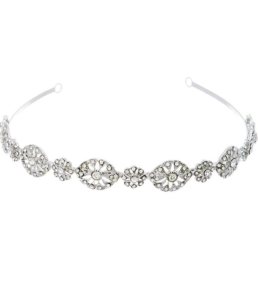 Nina Silver Michaela Swarovski Crystal Headband Hair Accessory ...