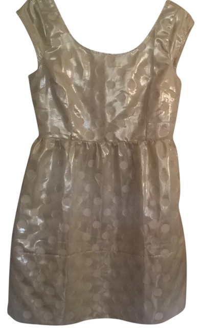American Eagle Outfitters short dress White Metallic Polka Dot Kate Spade Bow Cute on Tradesy