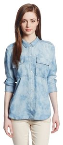 Calvin Klein Slim Double-pocket Button Down Shirt Blue