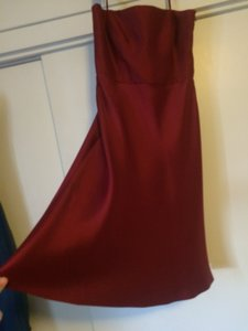 Ann Taylor Burgandy 104-136516 Dress