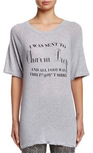 Wildfox Charm Prep Medium T Shirt Grey