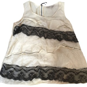 Ann Taylor LOFT Top White and Black