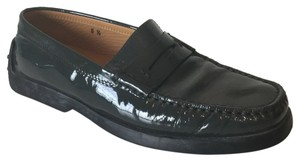 Tod's Patent Leather Penny Loafer Grey Flats