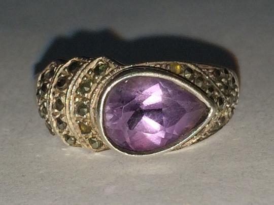 Other VINTAGE Sterling Silver 925 Pear Shaped Amethyst Ring Size 9 STUNNING Image 1