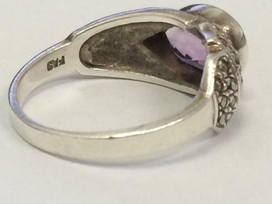 Other VINTAGE Sterling Silver 925 Pear Shaped Amethyst Ring Size 9 STUNNING Image 3
