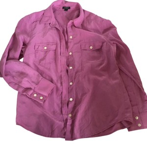 Ann Taylor Button Down Shirt Pink/purple