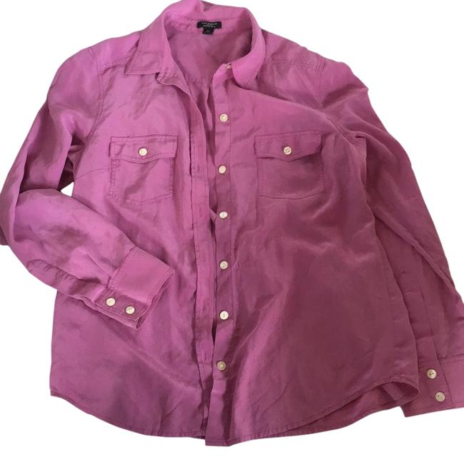 Ann Taylor Button Down Shirt Pink/purple Image 0