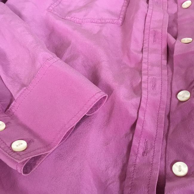 Ann Taylor Button Down Shirt Pink/purple Image 1
