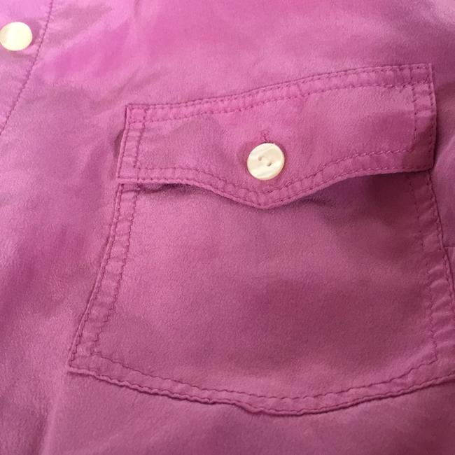 Ann Taylor Button Down Shirt Pink/purple Image 3