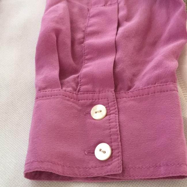 Ann Taylor Button Down Shirt Pink/purple Image 6