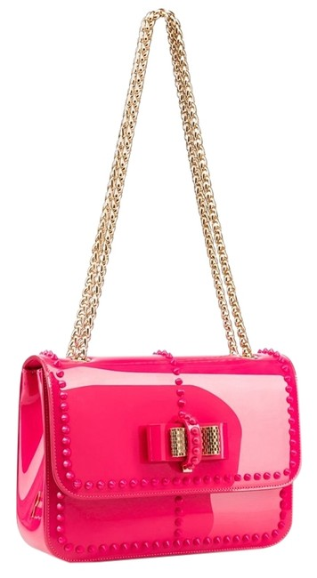 Item - Small Sweet Charity Spike Pink Patent Leather Shoulder Bag