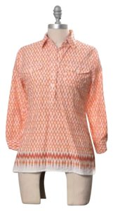 C. Wonder Top Orange ikat print
