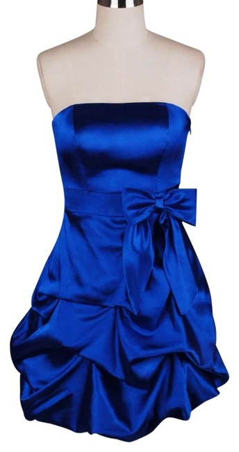 Preload https://img-static.tradesy.com/item/119317/blue-strapless-satin-pickup-sizesm-above-knee-cocktail-dress-size-4-s-0-0-650-650.jpg