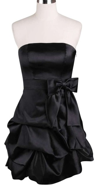 Preload https://item3.tradesy.com/images/black-strapless-satin-pickup-sizemed-above-knee-cocktail-dress-size-8-m-119322-0-0.jpg?width=400&height=650