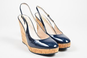 Saint Laurent Yves Rive Blue Platforms