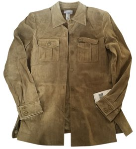 Liz Claiborne Tan or rustic golden Leather Jacket