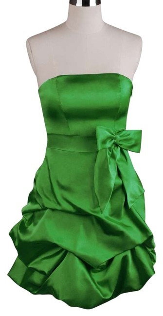Preload https://img-static.tradesy.com/item/119329/green-strapless-satin-pickup-above-knee-cocktail-dress-size-18-xl-plus-0x-0-0-650-650.jpg