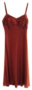 Ann Taylor short dress Red w beige dots on Tradesy
