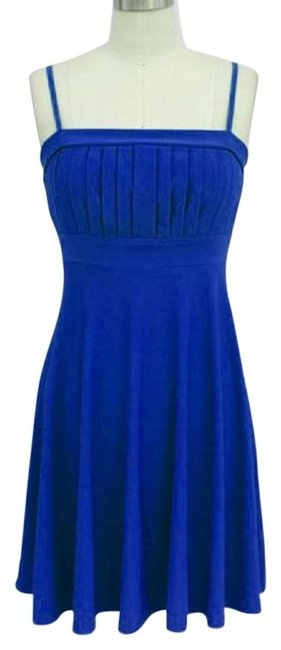 Preload https://item1.tradesy.com/images/blue-cute-spaghetti-straps-knee-length-night-out-dress-size-10-m-119335-0-0.jpg?width=400&height=650