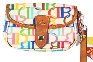Dooney & Bourke White Wristlet in Multicolor