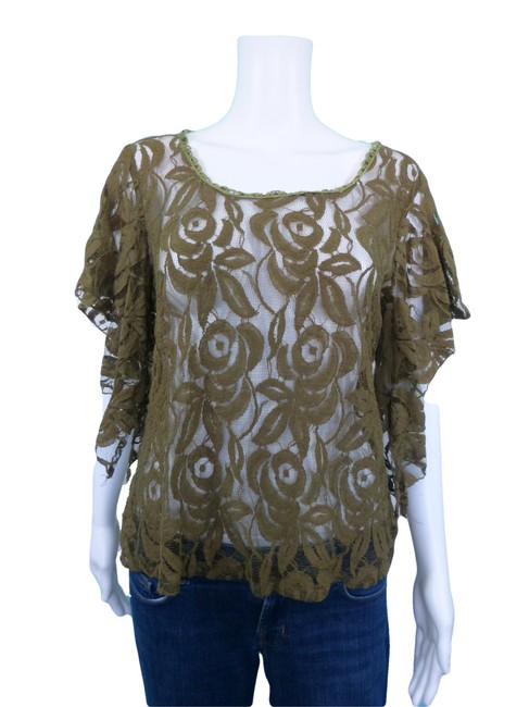 Solitaire Boho Top Green Image 0