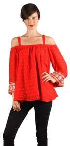 Vava by Joy Han Irina Red Blouse Cold Top True red