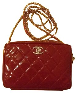 Chanel Classic Patent Camera Mini Cc Cross Body Bag