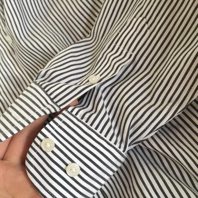 Jones New York Button Down Shirt White/Black Image 5