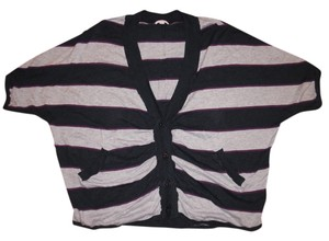 Caslon Cardigan Button-down Oversize Stripes Sweater