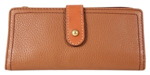 Fossil Fossil Brown Taylor Tab Clutch Leather Wallet