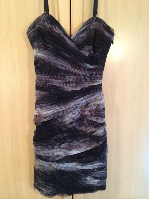 BCBGMAXAZRIA Nwot Mesh Strapless Removable Straps Mini Dress
