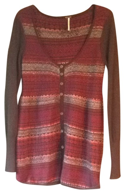 Free People short dress Brown With Pink Details on Tradesy