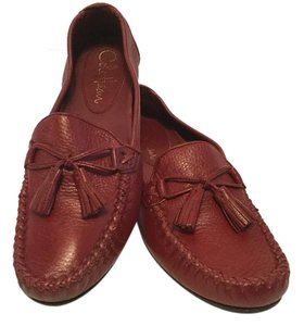 Cole Haan Leather Tassels Red Flats