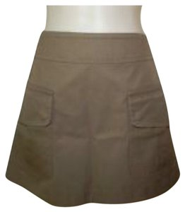 Michael Kors Mini Skirt Dark Khaki