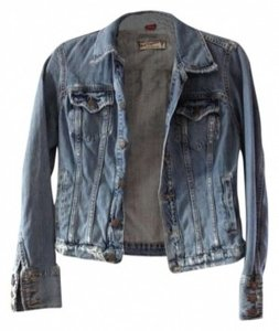 Red Engine distressed Womens Jean Jacket