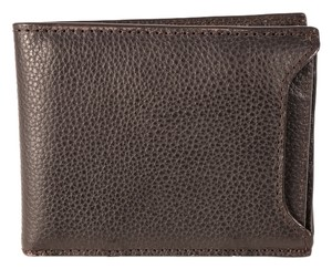 Banana Republic Banana Republic Dark Brown Pebbled Leather Dress Wallet