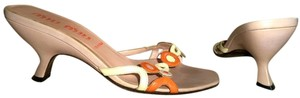 Miu Miu Light Leather Pink, Orange, Beige Sandals