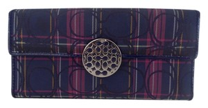 Coach ALEXANDRA TARTAN PLAID ZIP AROUND WALLET