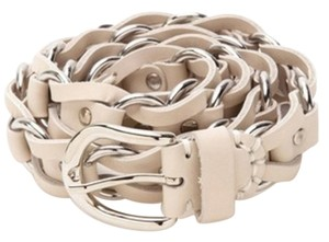 Isabel Marant ISABEL MARANT Leather and Chain Link Deakin Belt