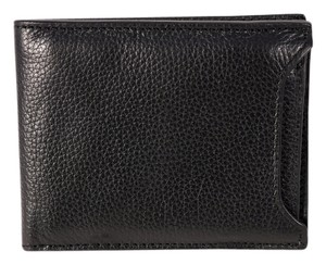 Banana Republic Banana Republic Black Pebbled Leather Dress Wallet