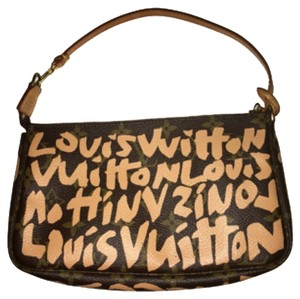 Louis Vuitton Stephen Sprouse Peach Graffiti Clutch