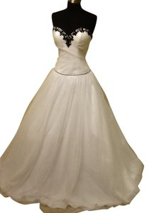 Precious Formals Ball Gown Beaded Embellished Strapless Dress