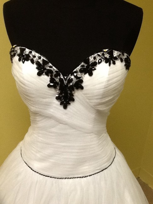 Precious Formals Ball Gown Beaded Embellished Strapless Dress Image 1
