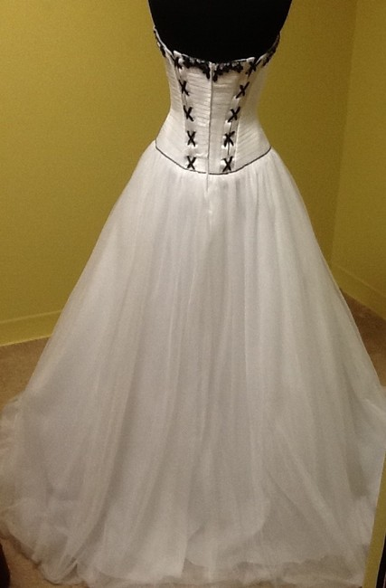 Precious Formals Ball Gown Beaded Embellished Strapless Dress Image 3