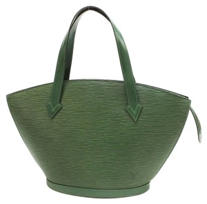 Louis Vuitton Epi Lv Satchel Tote in Green