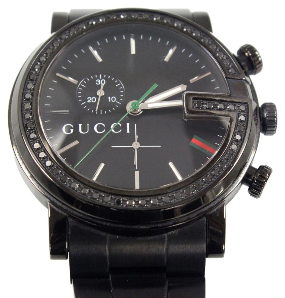 19240466936 Gucci Gucci 101M PVD Stealth Black Diamond Chrono Phantom Stainless Steel  Watch w  Box Image ...