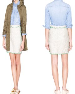 J.Crew Mini Skirt Ivory & Green