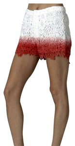Moon Collection Dress Shorts Coral and white
